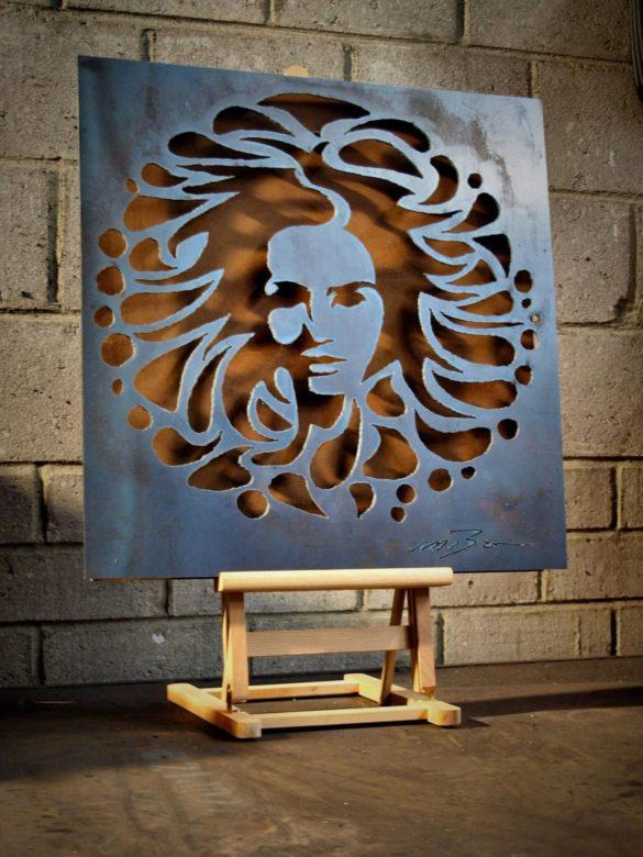 Пример художественной резки по металлу