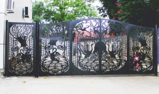 Ворота лазерная резка